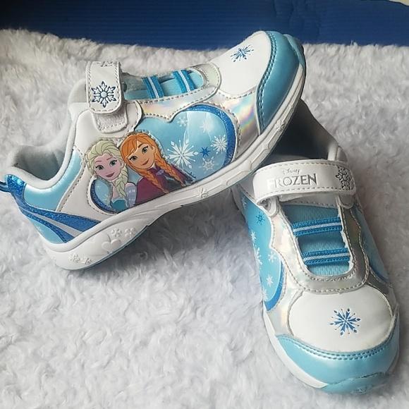 Disney Frozen Anna Elsa Toddler Girl/'s Athletic Shoes Blue White Size 10 NWT